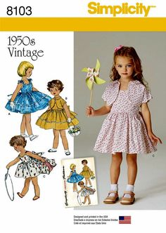 Child's Dress and Lined Jacket Vintage 1950's Pattern by blue510