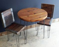 24x60 industrial dining table with raw steel by mthoodwoodworks