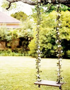 darling flower swing - I am SO doing this!