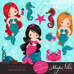 Lovely Little Mermaid Clipart