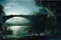 Moonlight Landscape  Joseph Wright of Derby British 1734-1797
