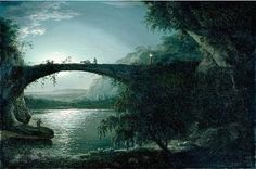 Moonlight Landscape  Joseph Wright of Derby British 1734-1797