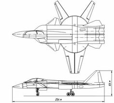 Sukhoi Su-41 fighter project?  Multi-use interceptor Sukhoi Su-41, which was planned in the late 1980s. Large machine of the full-length 23.4m. The wing is divided into before and after a variable wing.