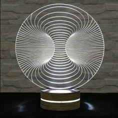 LED Lamp Acrylic Lamp Art of Light Home Decor Artistic Lamp Night Light Table Light Office Decor Nursery Light Desk Light, Light Table, Lamp Light, Light Bulb, Luminaire Design, Lamp Design, Lighting Design, Lampe 3d, Gravure Laser