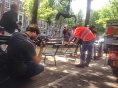 New bench after original went missing. When In Amsterdam...: Amsterdam The Fault in Our Stars: the bench, film locations and TFiOS things