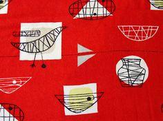 "Marian Mahler: ""Bird & Bowl"" Fabric.  @designerwallace"