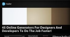 45 Online Generators For Designers And Developers To Do The Job Faster! Photo