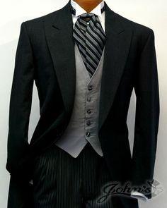cutaway tuxedo | Grey Cutaway Tuxedo Lord West