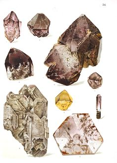 Vintage Printable, under the category of Gems and Minerals. Pages and pages from old textbooks, that are now part of the public domain.