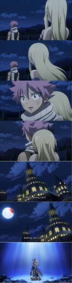 And it was at this exact moment that I died of happiness. Nalu! Even thoughI do wish she hugged him from the front so he can HUG HER BACK