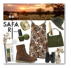 """""""WildLife Safari Tours"""" by drinouchou ❤ liked on Polyvore featuring Leftbank Art, Clinique, Glamorous, Gucci, Timberland, Brixton, L.L.Bean, House of Harlow 1960, Jin Soon and OPI"""