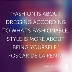 #delarenta #fashion #quote Stylishly Frugal Loves this Quote!  stylishlyfrugal.com