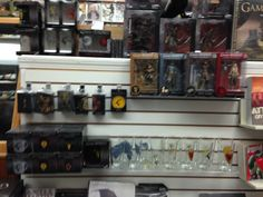 Happy Saturday everybody! Have you been in to see our Game of Thrones section lately? We've got everything from patches to pint glasses to figures! Come on in and pledge your alliance to your favorite house today!