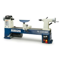 Rikon Midi Lathe from Craft Supplies USA --- This lathe sets a new standard for midi lathes with its exceptional overall quality and many features found on lathes costing much more. Pen Turning, Wood Turning, Woods Equipment, Lathe Parts, Lathe Accessories, Craft Supplies Usa, Wood Chisel, Machine Tools, Wood Lathe