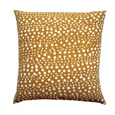 MUDCLOTH pillow cover YELLOW DOTS