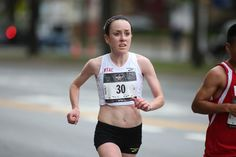 Megan Hogan runs in the 2015 Brooklyn Half Marathon