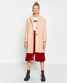 Image 1 of KNIT EFFECT COAT from Zara