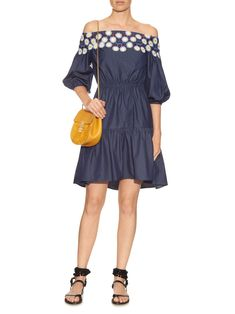 Click here to buy Peter Pilotto Pallas off-the-shoulder cotton dress at MATCHESFASHION.COM