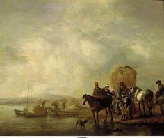 Wouwerman, Philip - Повозка с сеном, ок. 1650-55, Маурицхёйс, Гаага: