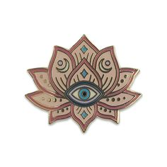 Wildflower + Co. - Mystical Lotus - Evil Eye Enamel Pin, $10.00 (http://www.wildflower.co/mystical-lotus-evil-eye-enamel-pin/)