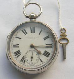 Victorian/Edwardian Silver Case Fattorini & Sons Bradford Gent's Pocket Watch