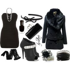 """Little Black Dress Set"" by jullianeford on Polyvore"