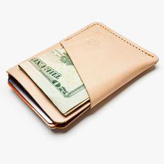 Slim Card Case (Natural Leather)