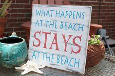 Coral and Aqua decor | Beach Sign Nautical Coastal Decor Coral and Turquoise