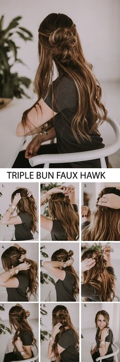 An EASY hairstyle that would be cute on you or your little girl. This is an under 10 minutes hairstyle! #hairtutorial #hair #hairstyle #buns