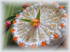 Répatorta fehércsokis, mascarponés krémmel - húsvéti ételek