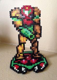 Super Metroid Inspired 8 Bit 3D Samus Aran via eb.perler. Click on the image to see more!