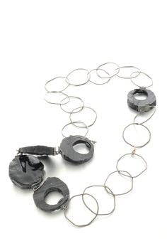 Necklace in silver, gold, resin. Art jewelry by Izabella Petrut. Jewelry Art, Unique Jewelry, Handmade Rings, Wearable Art, Cufflinks, Brooch, Engagement Rings, Jewels, Resin Art