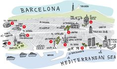 Tourist map Barcelona
