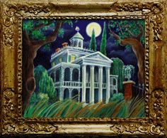 The changing portrait in the Halloween Haunted Mansion.