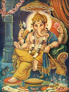 Lord Ganesha Paintings, Ganesha Art, Shri Ganesh, Krishna Radha, Ganesh Lord, Hanuman, Lord Krishna, Ganesh Images, Ganesha Pictures