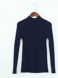 Lehký dámský podzimní svetr tmavě modrý – SLEVA 60 % + POŠTOVNÉ ZDARMA Na  tento produkt se vztahuje nejen zajímavá sleva b514f3432b