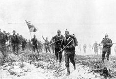 German infantry confidently advancing to contact in France in late summer 1914