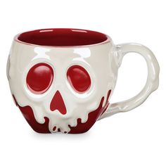 Sip your caffeine drip from this fully sculptured, just-dipped Poisoned Apple Mug, freshly cursed by the Evil Queen. Drink up... we dare you.