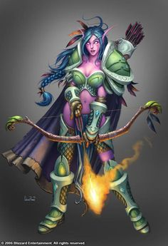 Night Elf Huntress by ~Arsenal21 on deviantART