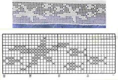 Szydełkomania: Borders for Filet Crochet, Crochet Borders, Crochet Chart, Easy Crochet, Crochet Lace, Crochet Stitches, Crochet Towel, Crochet Hooks, Christmas Crochet Patterns