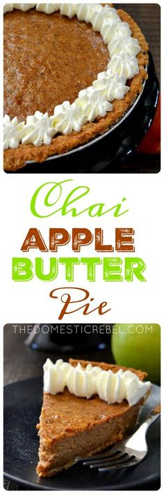 Chai Apple Butter Pie: a flavorful, EASY pie made with apple butter ...