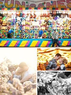 Today's e-shoot is so adorable, it makes me wish the fair was still going on in San Diego. Sent to us by Becky at Limelife Photography, I thought it was the perfect representation of a day of coastal summer fun. Tanya and Tyler took some shots amongst all the colorful rides and games and then headed to the beach for a few more shots in the sun. The result, a perfect combination of playfulness and romance.Photography by Limelife Photography. To see more from Tanya and Tyler's engagement s