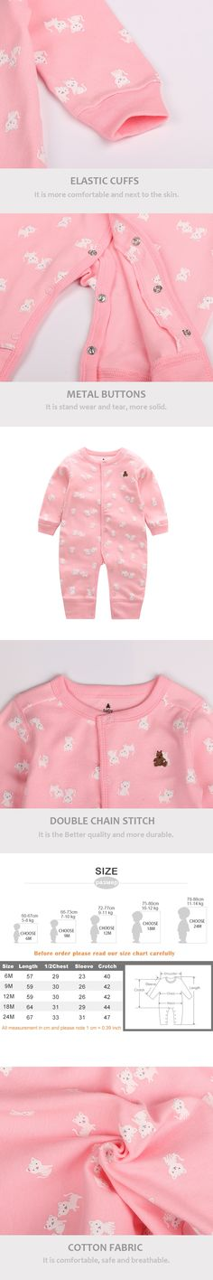 4f77a7f8fe6d 6-24M Newborn Baby Girl Clothes Cute Cat Print Long Sleeve Cartoon Printed  Jumpsuit Baby Boy Romper Cotton Clothes Comfortable