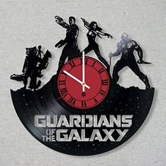 Contemporary Vinyl Record Wall Clock comics movie Guardia. c5609a6c281