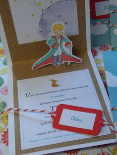 convite-pequeno-principe-pop-up-tag-pequeno-principe Little Prince Party, The Little Prince, Prince Birthday Party, Birthday Parties, Baby Shower, Childrens Party, Birthday Party Decorations, Christening, Pop Up