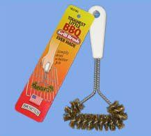 Brushtech Toughest Little BBQ Brush Ever Made High tensile brass bristles will not damage porcelain coated grills. Cleans grills in a few swift strokes. Dishwasher-safe.. Measures 7.75-inch by 4-inch by 1-inch. Lasts ten times longer than most grill brushes.  #Brushtech #Kitchen