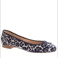 """J.Crew KIKI Leopard Ballet Flats Style a9866. New in box. Poly acrylic/cotton/poly upper. Leather lining and sole. 5/8"""" heel. Made in Italy. J. Crew Shoes Flats & Loafers"""