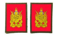 MAO. Il leone brandisce la spada con la destra o con la sinistra. I MAO vanno cuciti sui rispettivi polsi destro e sinistro delle uniformi.