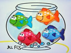 Colorful fish cookies