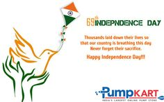 #Pumpkart wishes Happy independence day to all...!!!